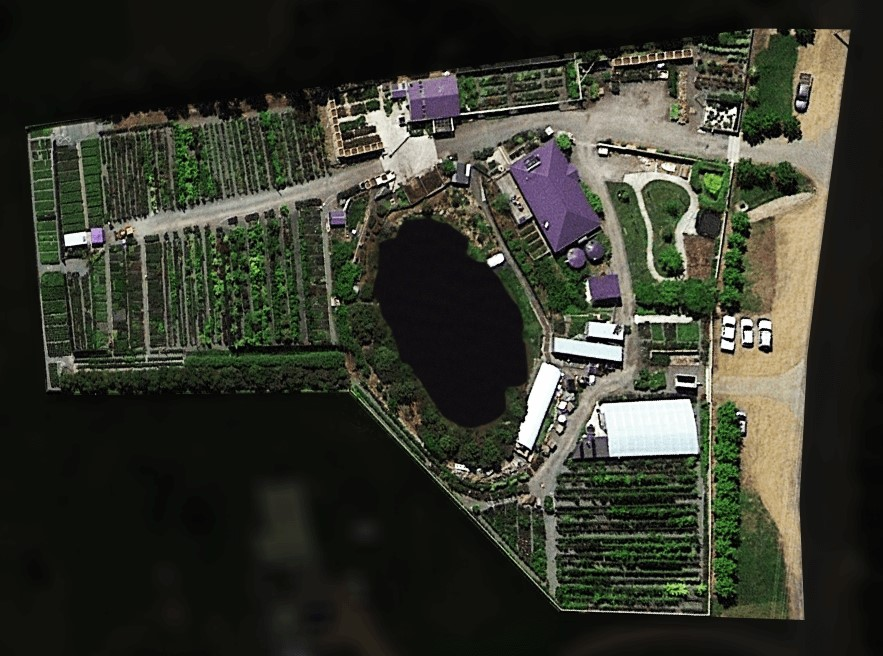 Satellite view of Greenhill Nursery near Hobart, Tasmania